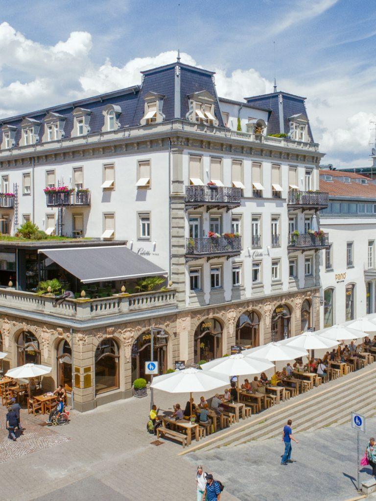 Die Aussenansicht der Tertianum Premium Residenz in Konstanz zum Wohnen im Alter