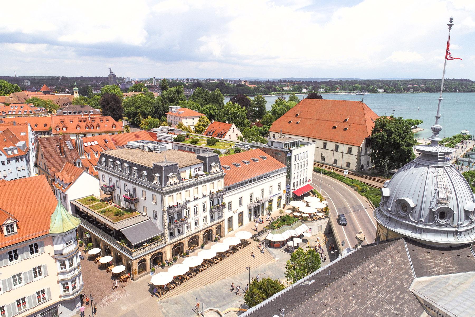 Luftbildaufnahme der Premium Altersresidenz Tertianum Konstanz am Bodensee