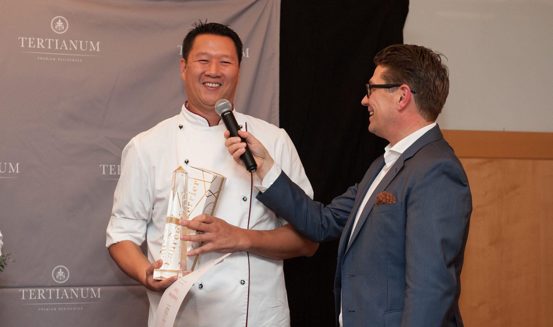 Koch mit Award für beste Küche