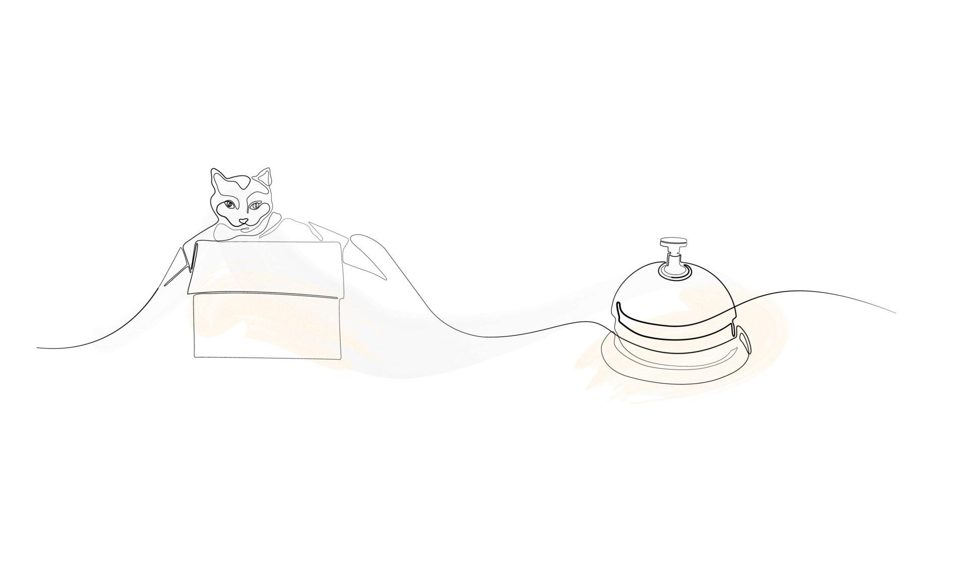 Illustration der Klingel an der Rezeption