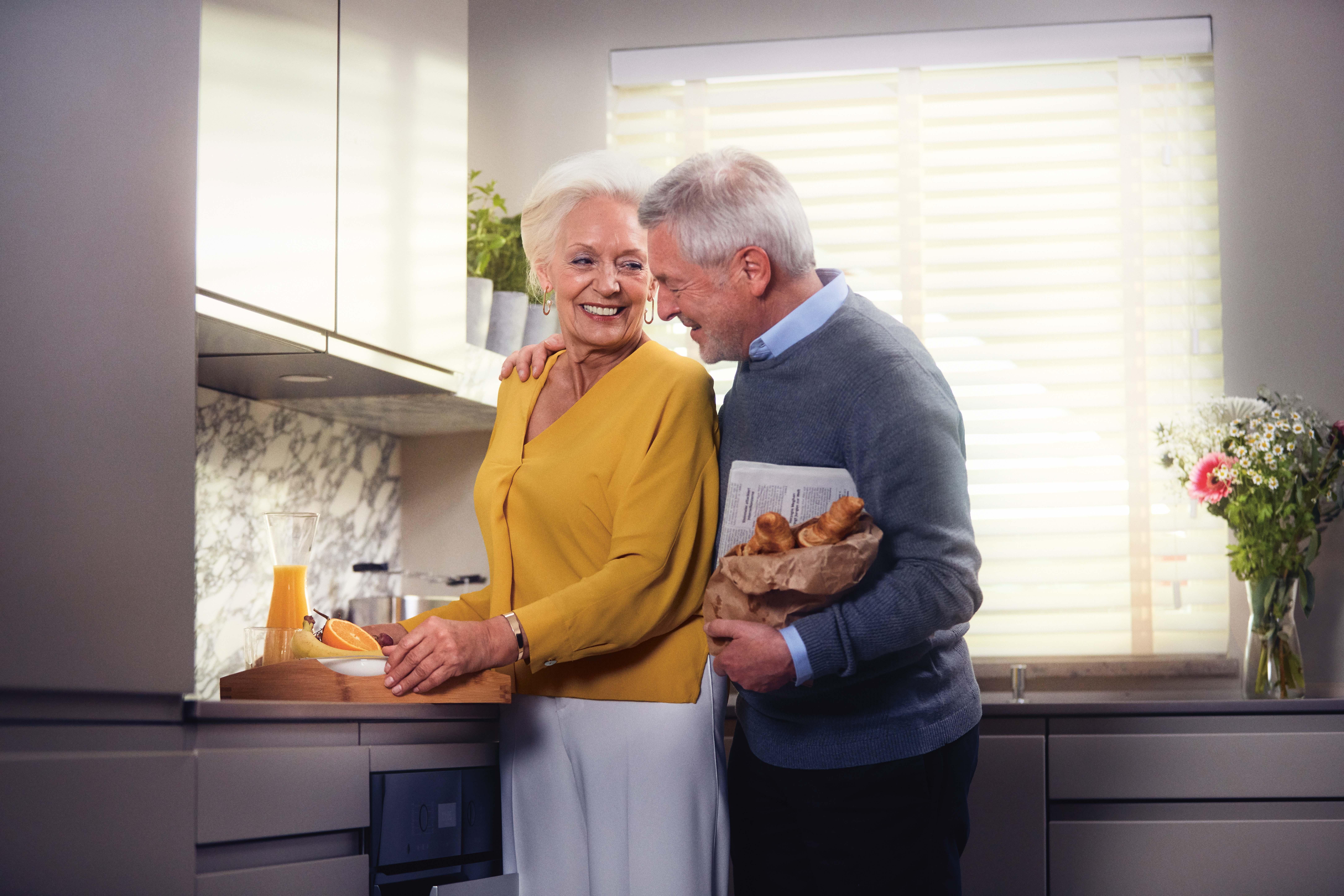 Ein älteres Ehepaar in Ihrem Seniorenwohnsitz
