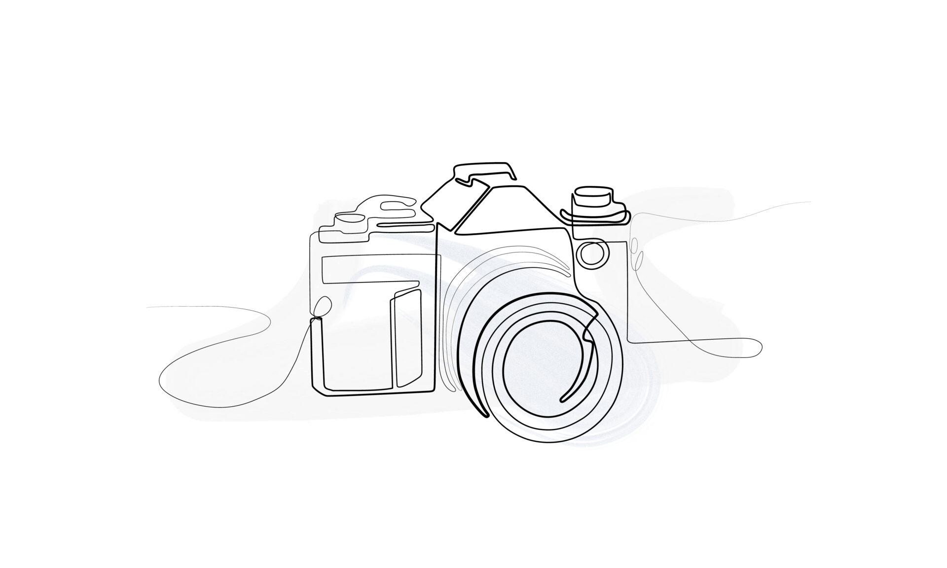 Skizze eines Fotoapparats